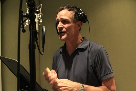Howard McGillin in The Smooth Spot vocal booth